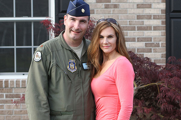 AF Maj. Christian Fiore and wife 600x400