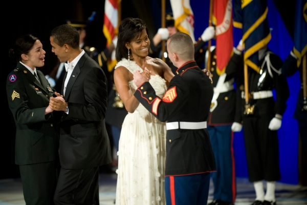 President and First Lady Dance at a 2008 Inaugural Ball