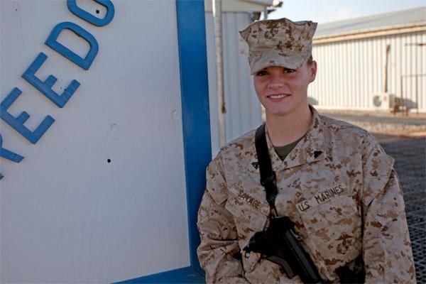 Marine Corps Cpl. Sasha Savage 600x400