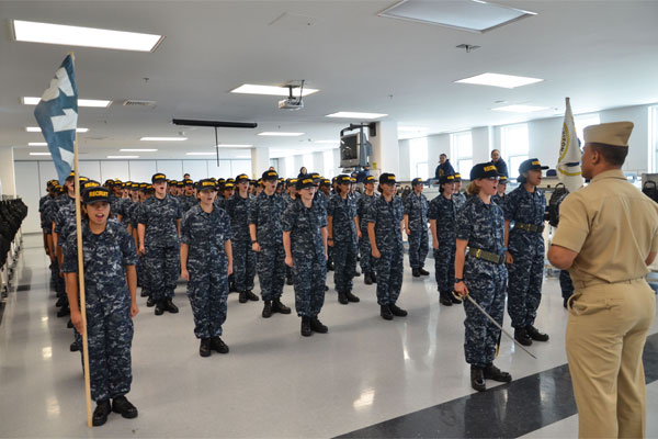 Navy all-female division at Recruit Training 600x400