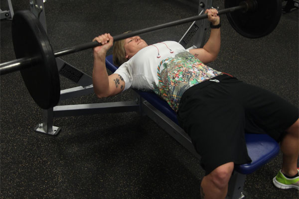 Sgt. Sissy S. Gouin bench pressing 600x400