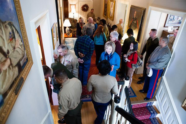 Marines tour Commandants house 600x400