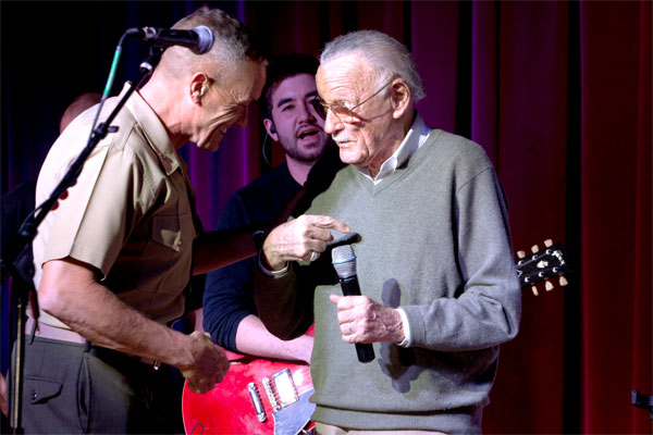 Brig. Gen. Vincent A. Coglianese with Stan Lee 600x400