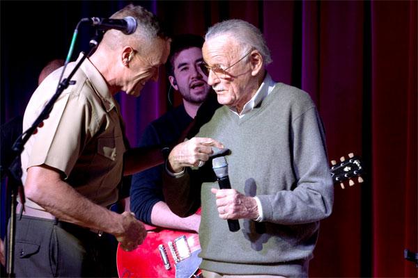 Brig. Gen. Vincent A. Coglianese with Stan Lee 600x400