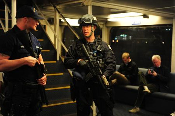 security sweeps on passenger ferries in Boston Harbor 600x400