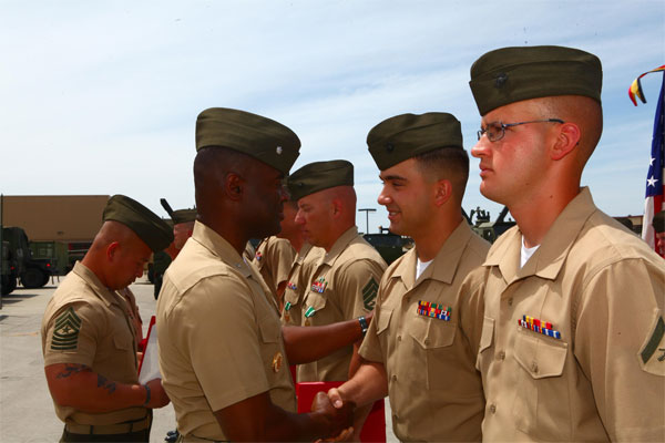 Marines recognized in ceremony 600x400
