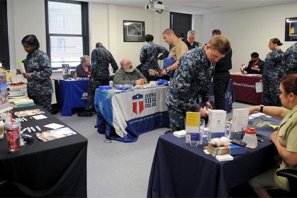 Sailors attend education fair 600x400