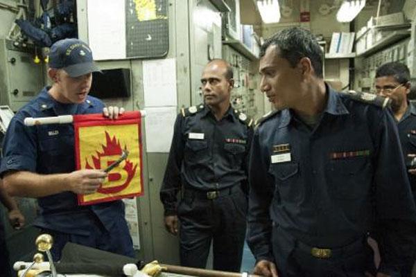 Coast Guard with Bangladesh navy 600x400