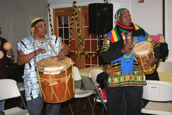 Servicemembers play drums for Garifuna Settlement Day 600x400