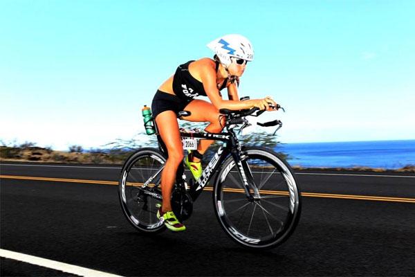 2nd Lt. Samantha Morrison cycling 600x400