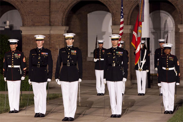 marine barracks continues female uniform testing