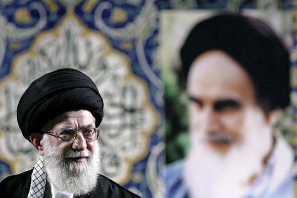 Iran's Supreme Leader Ayatollah Ali Khamenei delivers a speech to members of the paramilitary Basij force at the Imam Khomeini Grand Mosque in Tehran, Iran.
