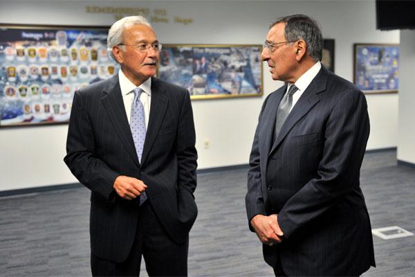 Secretary Leon E. Panetta and Steven E. Calvery 600x400