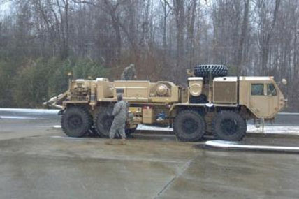 South Carolina Army National Guard soldiers on wrecker team