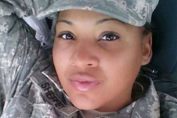 Pfc. Tariqka Sheffey selfie on Instagram