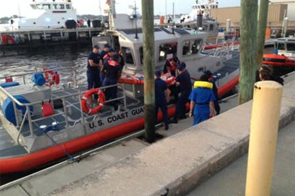 Coast Guard boat crew from Station Mayport
