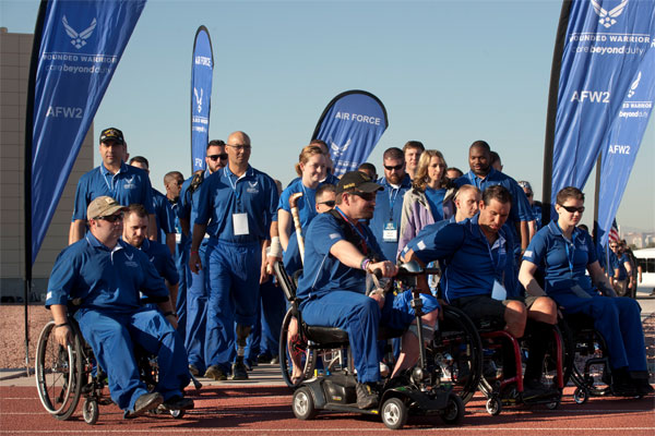 Wounded warrior athletes