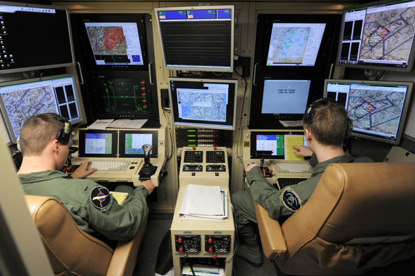 The Government Accountability Office said the Air Force has left its drone pilots with low morale. (U.S. Air Force photo)