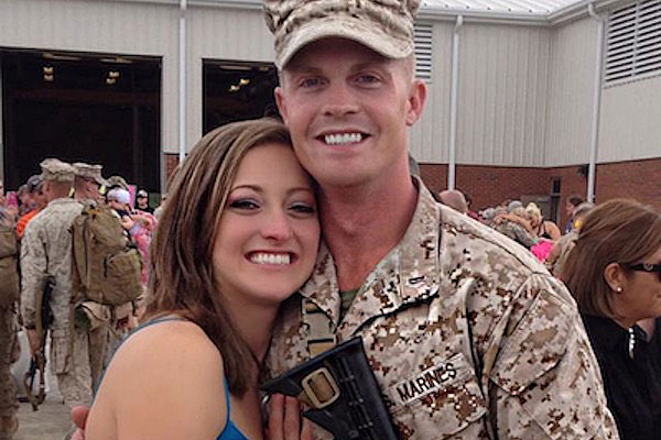 Marine spouse Alissa and her husband