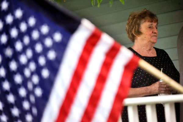 grandmother of U.S. Army soldier Aaron Toppen