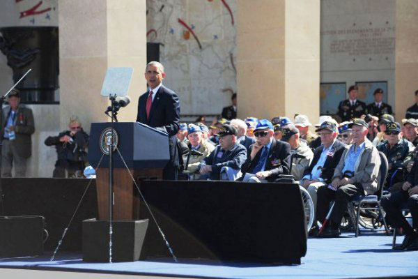 Obama speaks at 2014 D-Day ceremony.