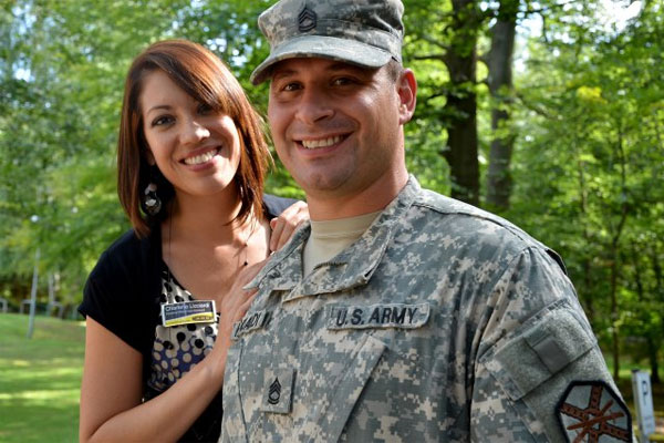 Sgt. 1st Class Danny Licciardi and his wife Charlene. (Photo Credit: Rick Scavetta, IMCOM)