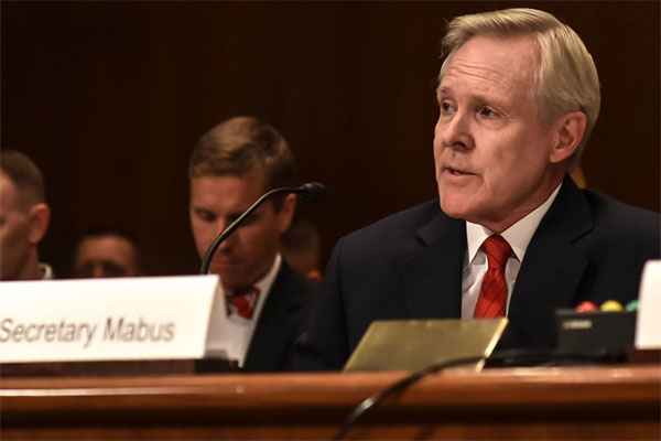 Navy Secretary Ray Mabus testifies before the Senate Appropriations Committee's defense subcommittee on the proposed budget for fiscal year 2016 in Washington, D.C., March 4, 2015. U.S. Navy photo by Chief Sam Shavers