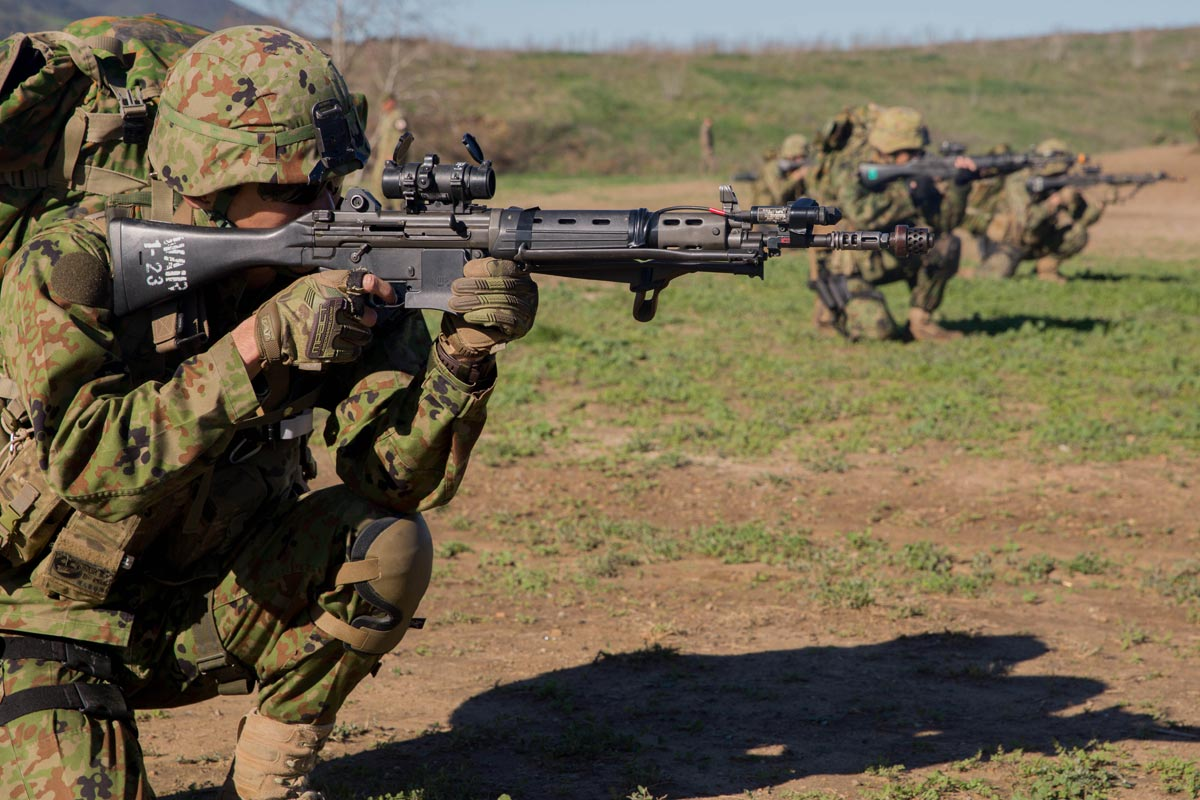 Japanese Soldiers Break Contact, Engage US Marines | Military.com