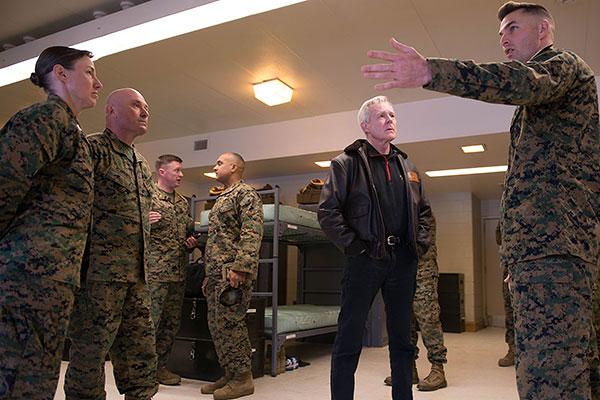 SECNAV Visits Marine Officer Training at Quantico | Military.com