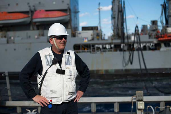 Command Master Chief James A. Roberts, the senior enlisted leader of the Arleigh-Burke class guided-missile destroyer USS Laboon has been relieved according to a June 27, 2016, announcement from the Navy. (Photo via Roberts' official Facebook page)