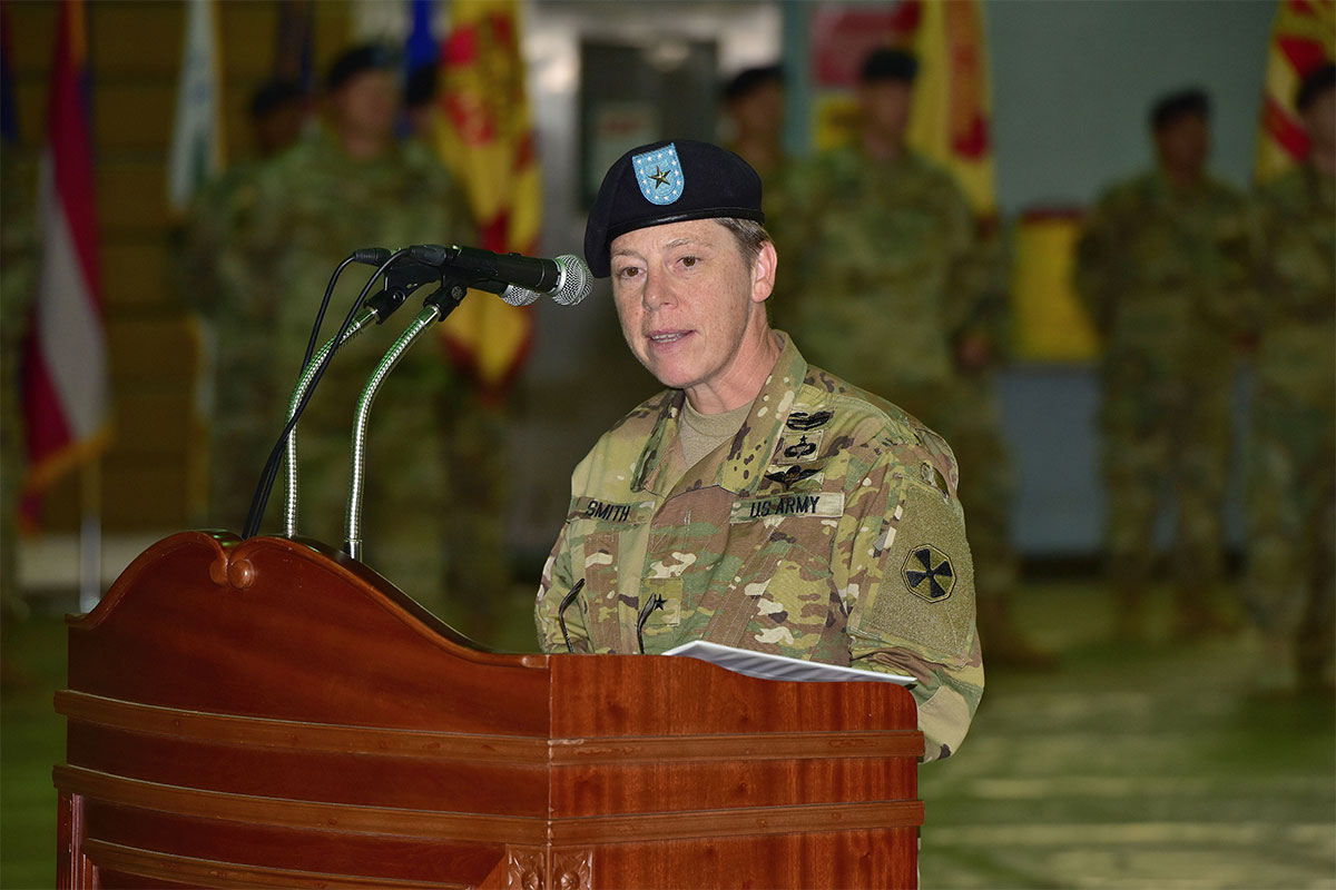 eighth army welcomes first female deputy commanding