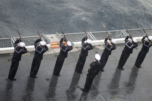 Burial at sea ceremony 600x400