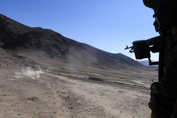 Firing from a UH 60 Black Hawk 600x400
