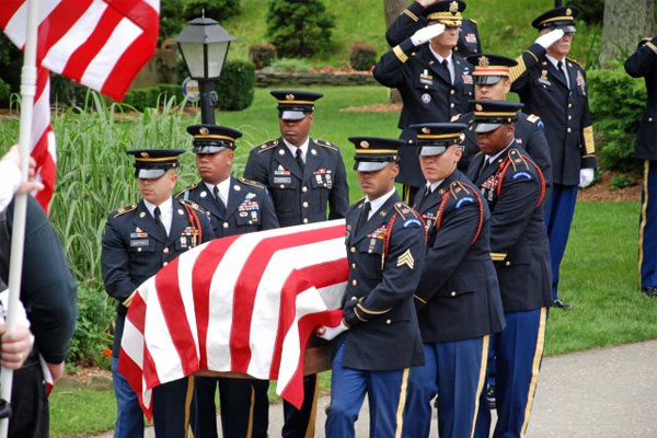 New York Military Forces Honor Guard at the funeral 600x400