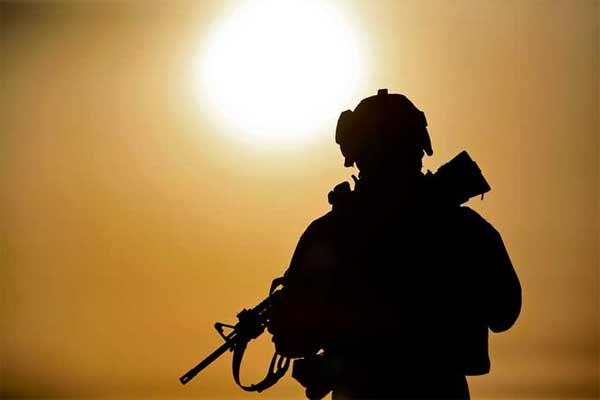 soldier silhouette 600x400