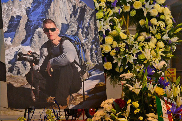 memorial service display for Maj. Lucas Gruenther 600x400