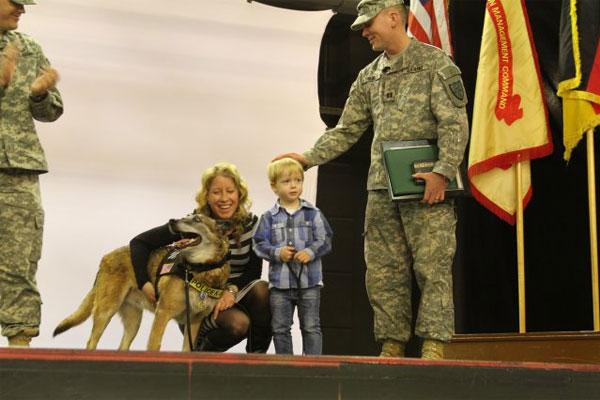 Military working dog Lando 600x400