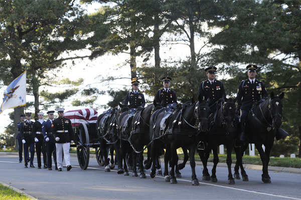 The Old Guard leads a joint service casket team 600x400