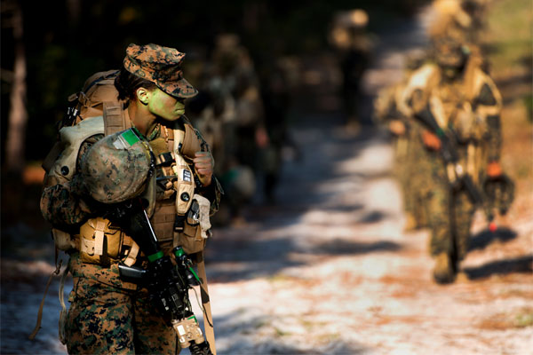 The Marine Corps announced it will roll out gender-neutral job titles on Oct. 1. Tyler L. Main/Marine Corps