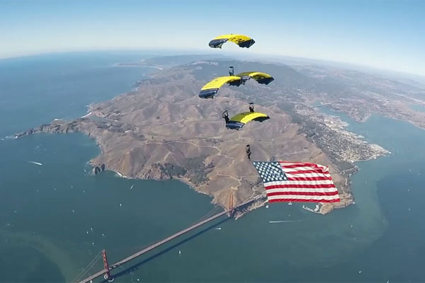 Fleet Week Jump with the Navy Leapfrogs