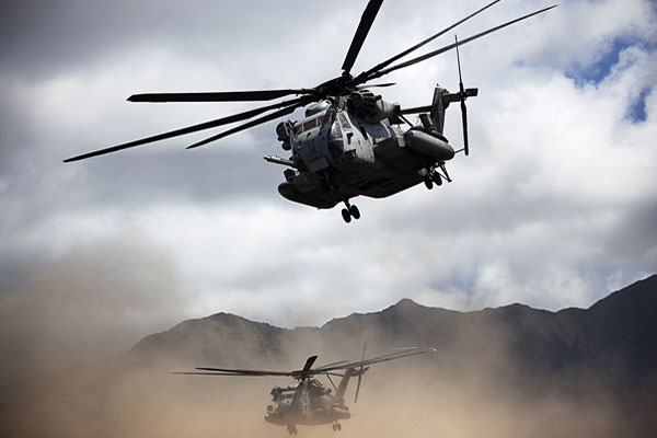 Marine CH-53 Helicopters. Marine Corps photo