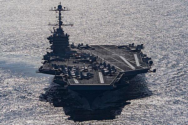 The aircraft carrier USS Harry S. Truman is seen Dec. 25, 2015, transiting the Gulf of Oman. J. M. Tolbert/U.S. Navy