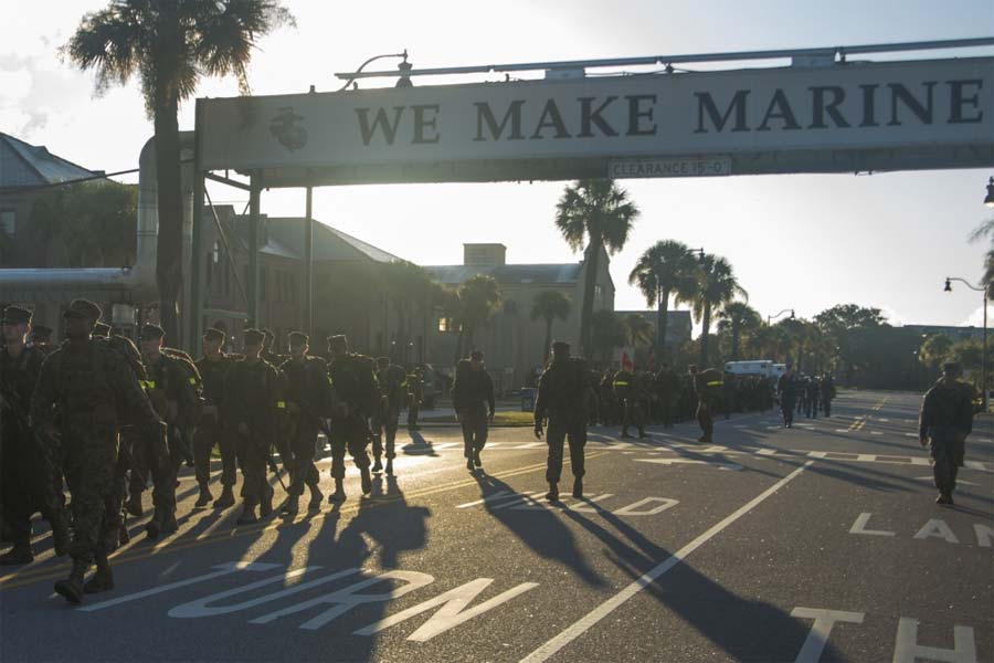 Marines Discharge Recruit Injured in Parris Island Building Fall