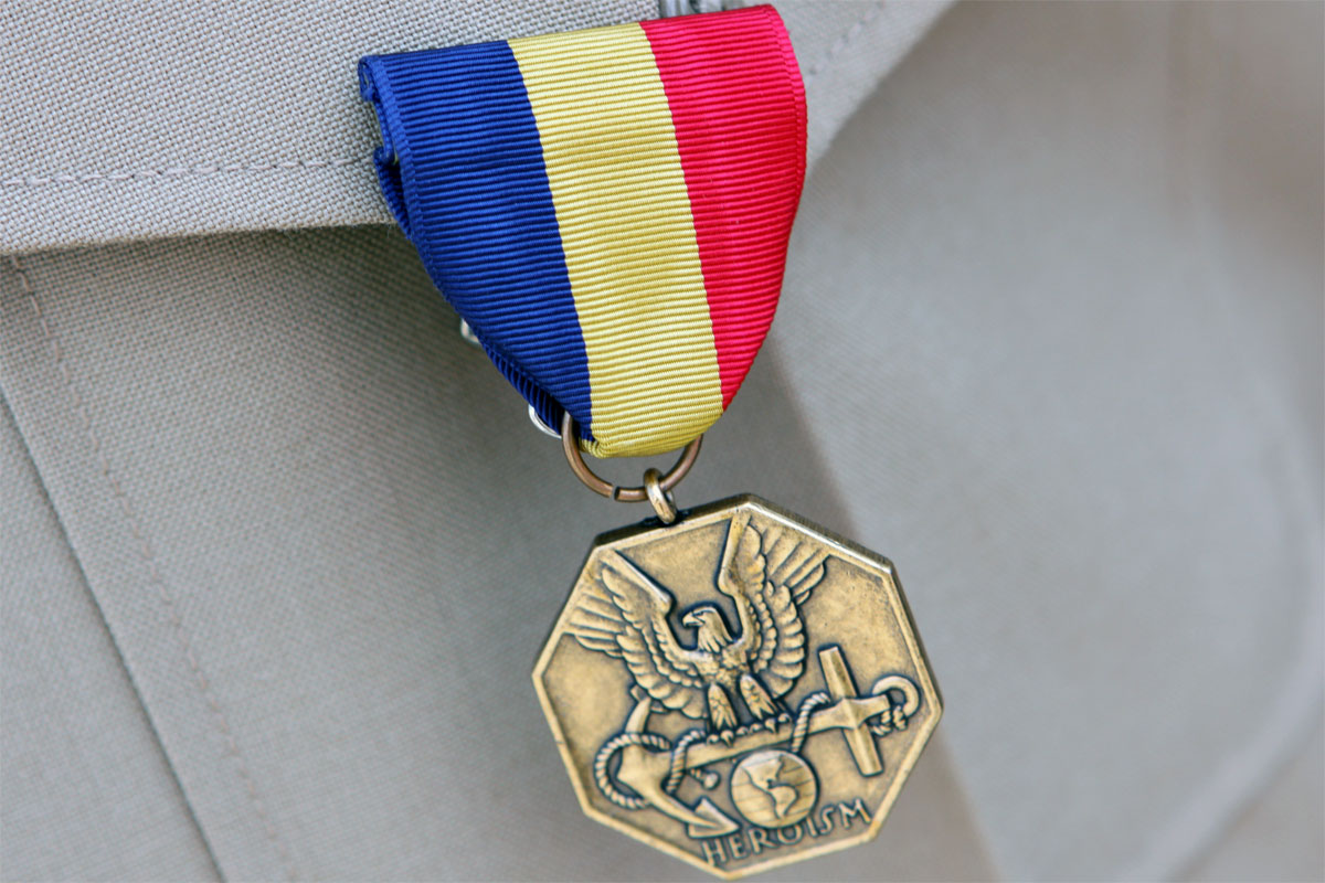 The Navy and Marine Corps medal (Defense Department photo)