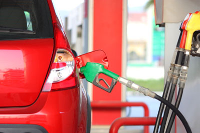 car at fuel pump