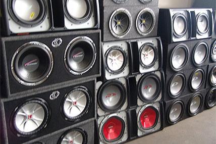 car speakers in store 428x285