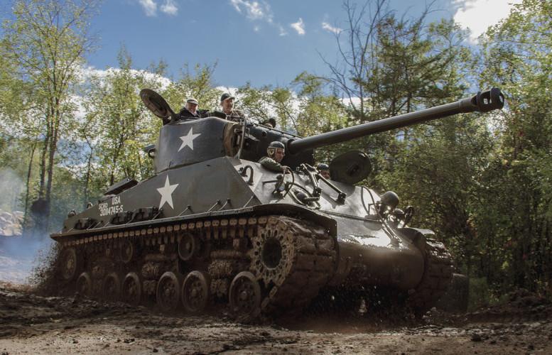 sherman drive a tank