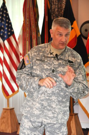 Sgt Maj of the Army Raymond Chandler visits TRADOC