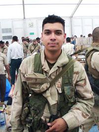 Marine Sergeant Edgar Navarro