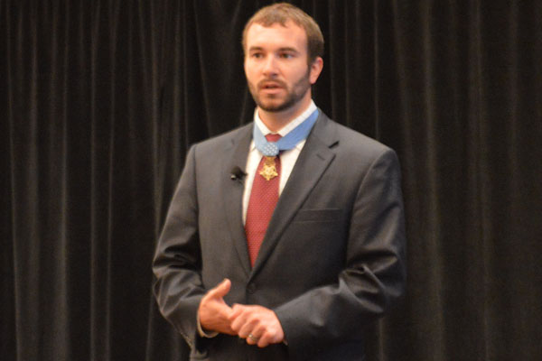 Medal of Honor recipient Sal Giunta speaks at Military.com's Spouse Summit.